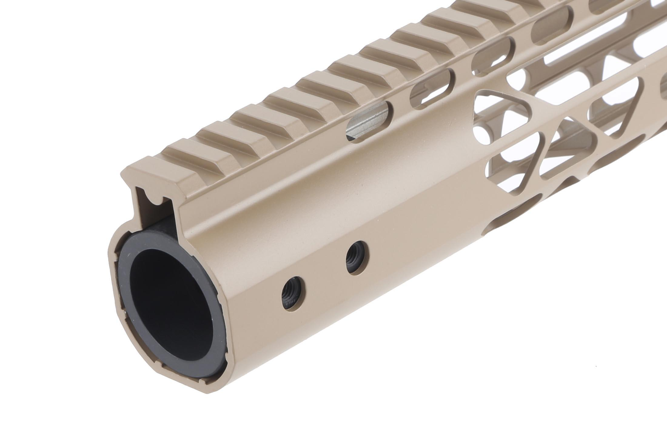 Guntec USA 10in Air Lite Handguard - M-LOK - Flat Dark Earth