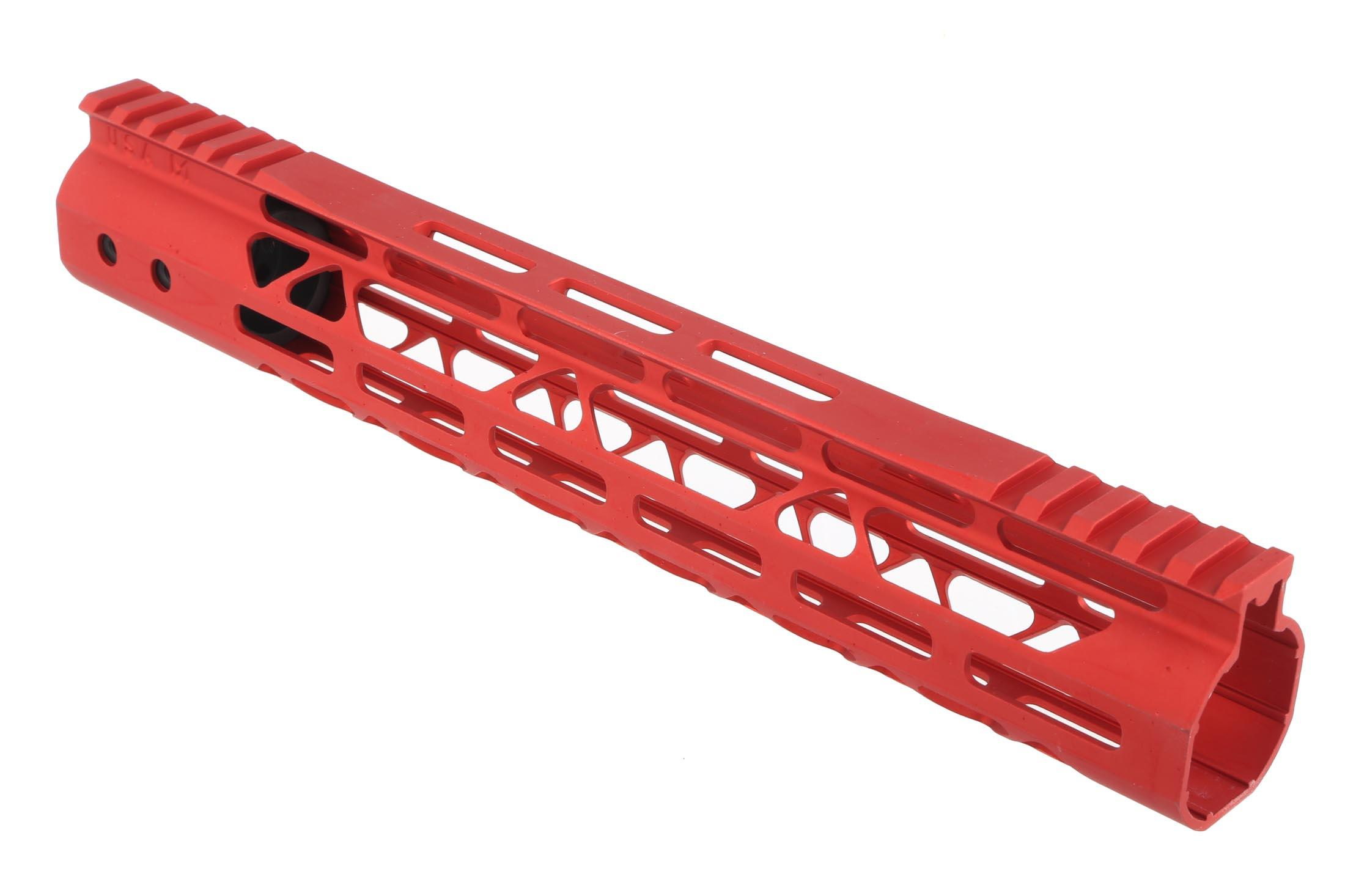 Guntec USA 12in MOD Lite Skeletonized Handguard - M-LOK - Red