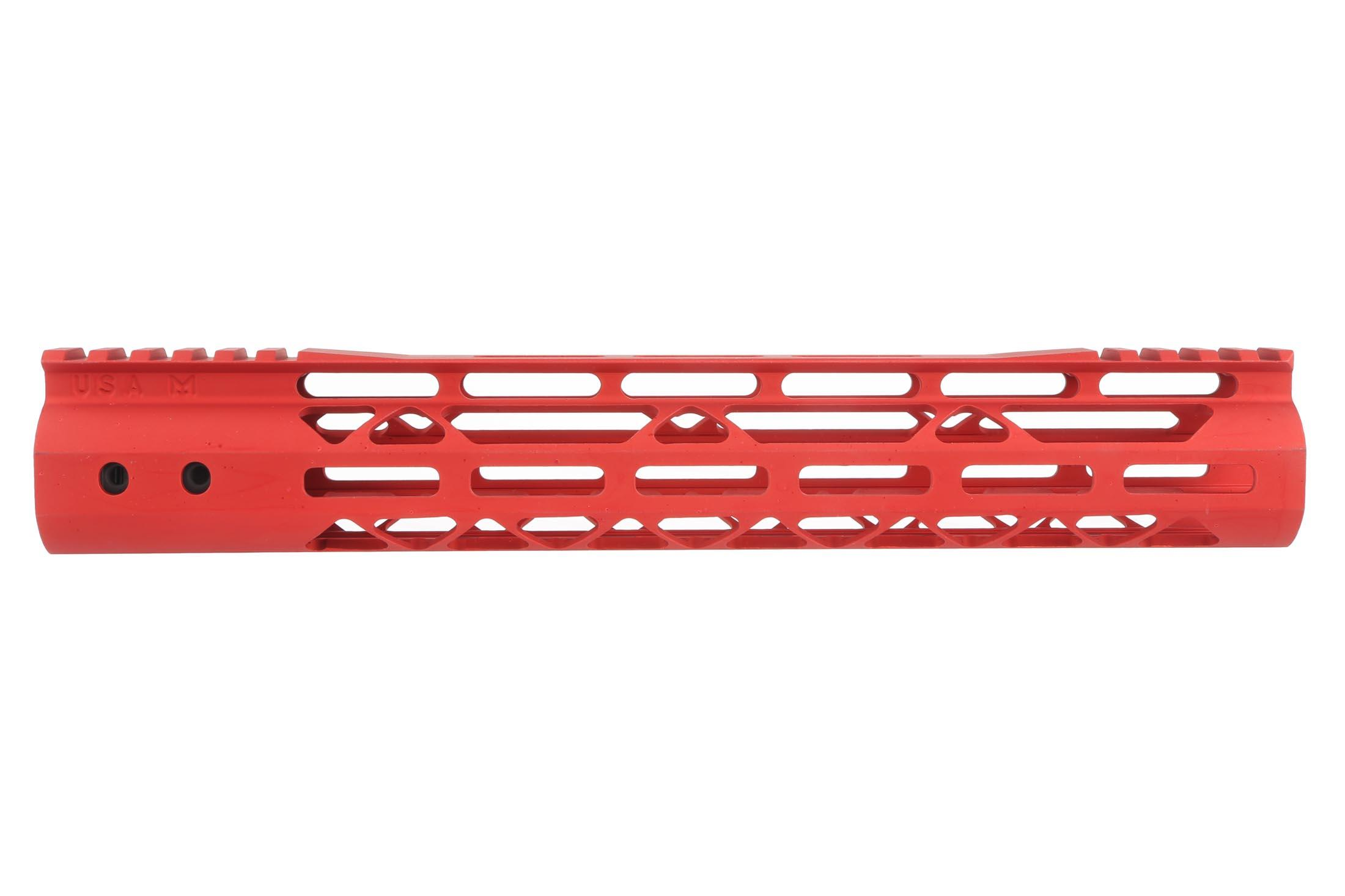 Guntec USA 12 MOD Lite Skeletonized Handguard - M-LOK - Red