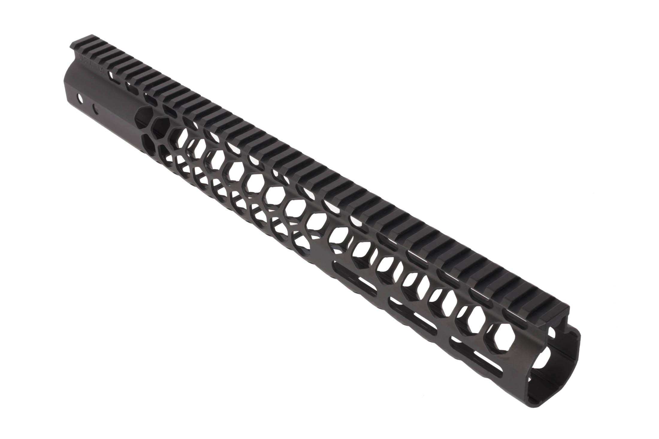 Guntec USA 15in Air Lite Honeycomb AR-15 handguard with M-LOK has a block anodized finish.
