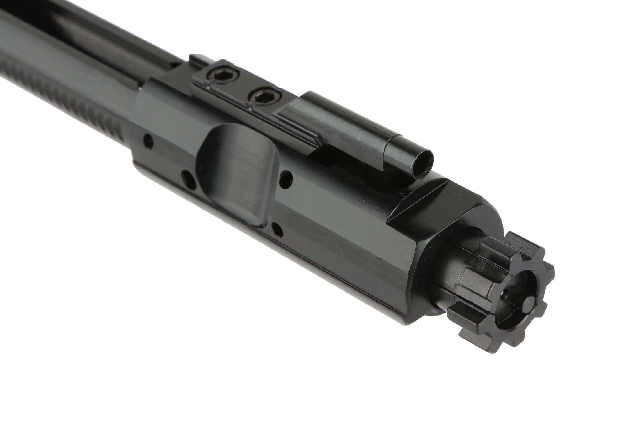 The Guntec AR-308 bolt carrier group has a properly staked gas key