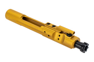 The Guntec titanium Nitride bolt carrier group is made from 9310 and 8620 steel