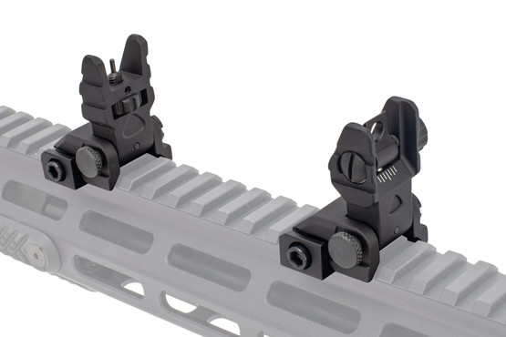 The Guntec USA folding sights are machined from aluminum with steel internals