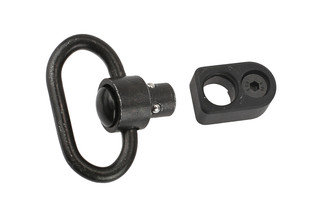 The Guntec USA QD sling swivel comes with an M-LOK adapter