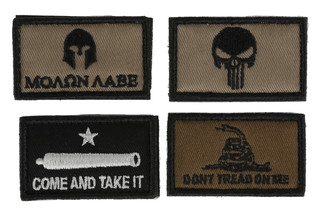 The Walker's morale patch kit comes with four patches that you can attach to your hearing protection or range bag