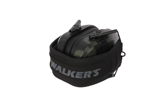 Walkers Razor Slim Electronic Hearing Muffs fold compact with a MultiCam Black finish