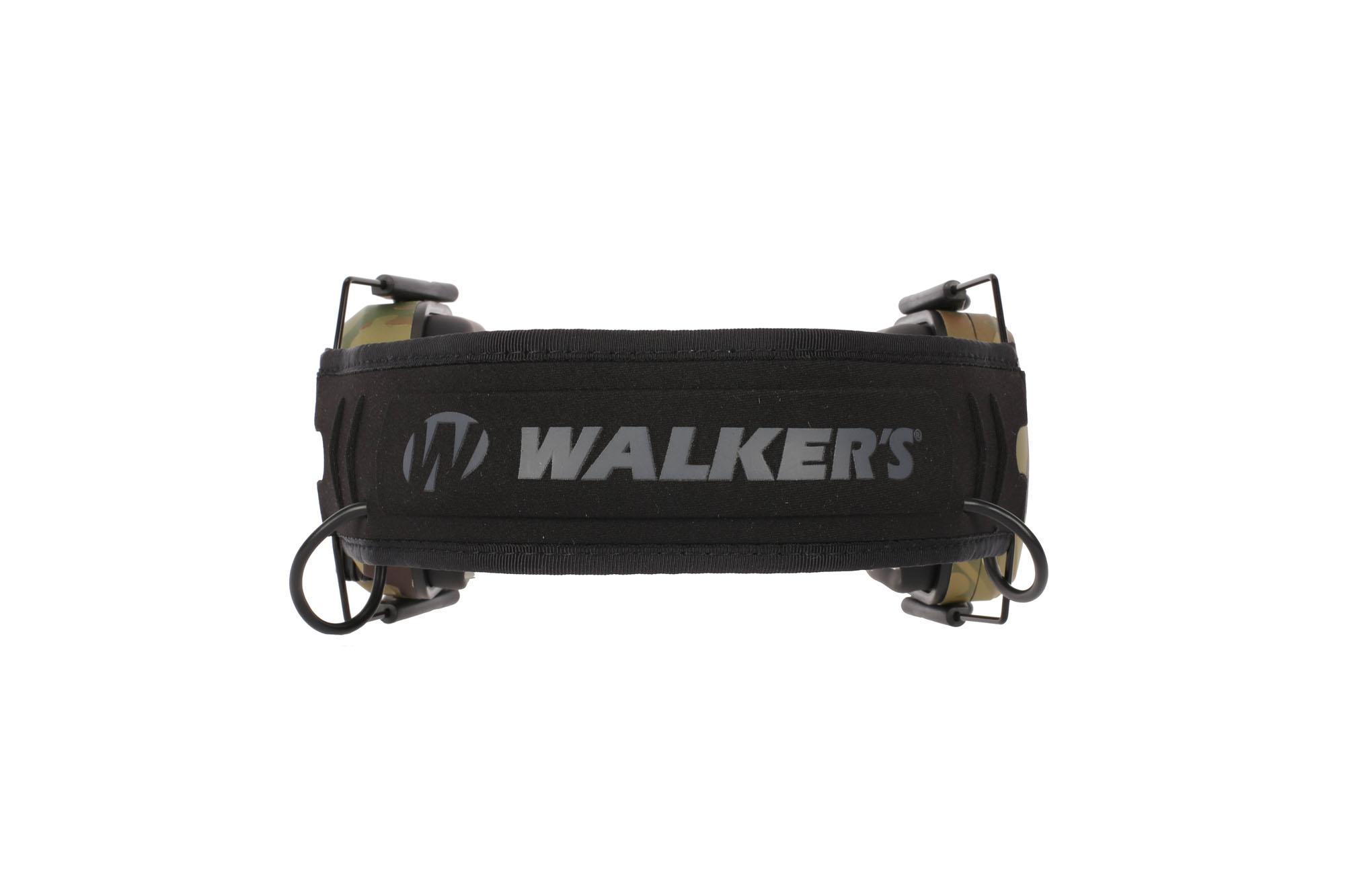 Walkers Razor Slim Electronic Hearing Muffs with comfortable head strap