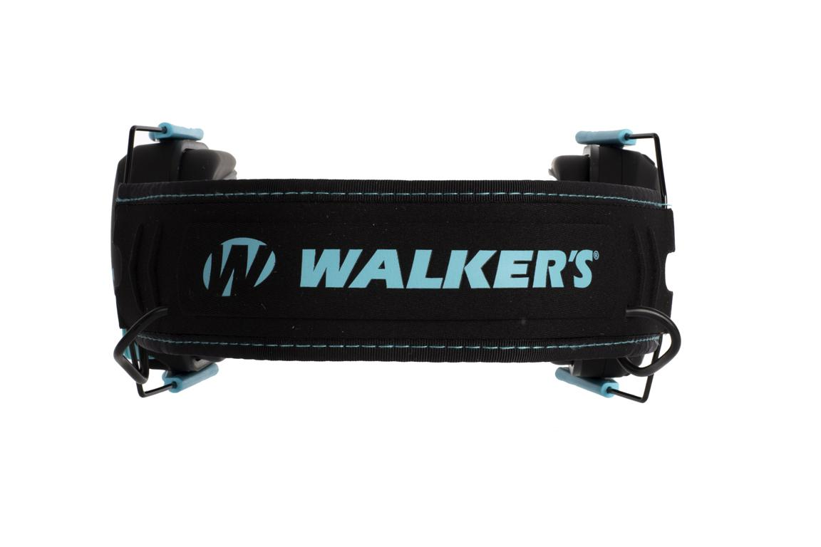 Walker's Razor Slim Electronic Muffs - Black/Teal Accent