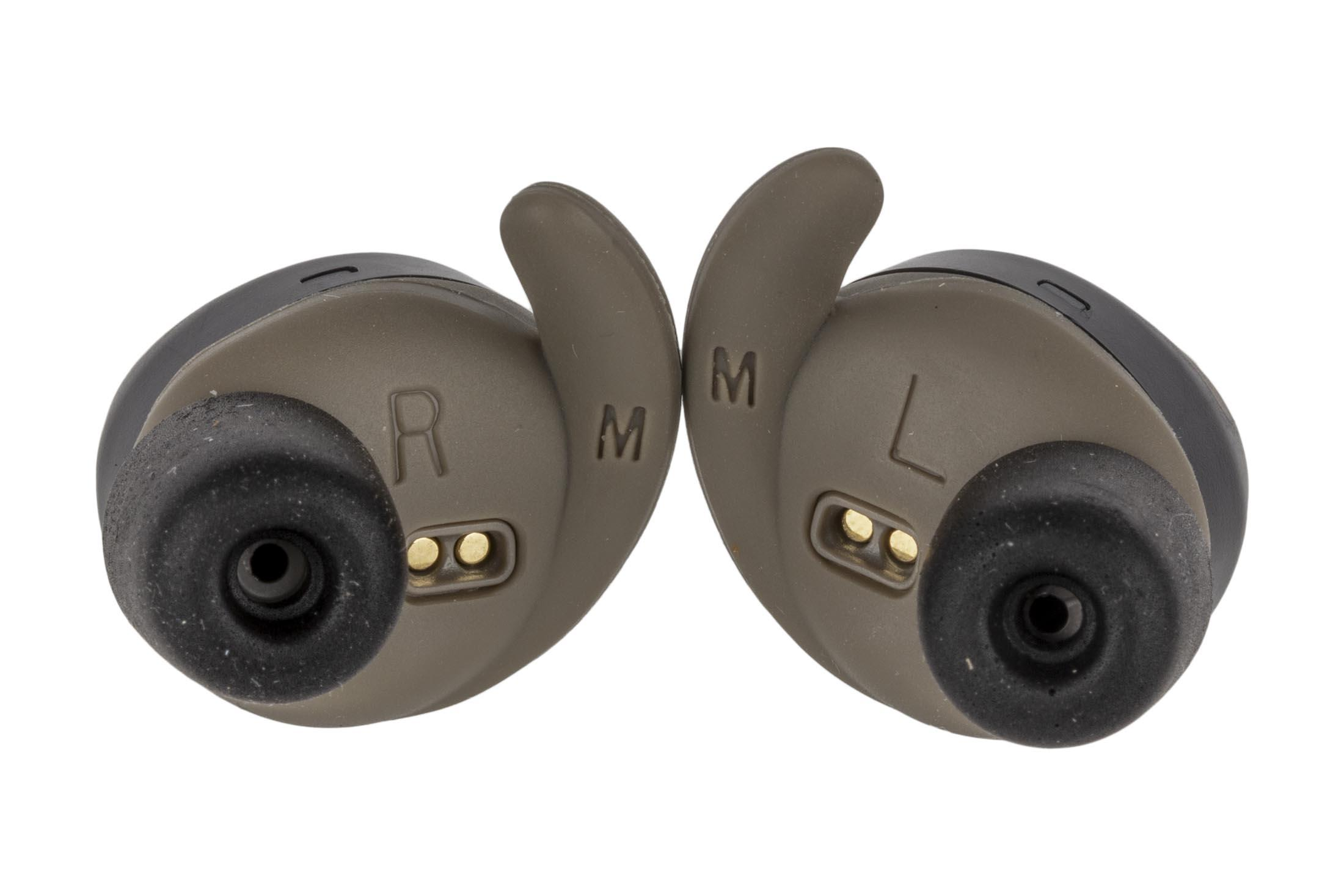 fd5cd91e5ac ... flat dark earth color; The Walker's electronic bluetooth earbud ear  protection comes with multiple foam tips to customize to your; The walkers  silencer ...