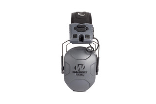 Walker's XCEL electronic hearing protection is Bluetooth equipped with easy to intuitive controls and a gray finish