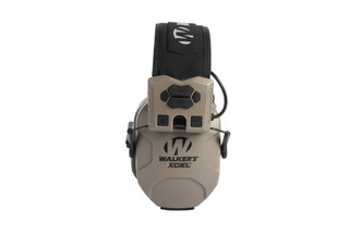 Walker's FDE XCEL electronic over-ear hearing protection has a unique voice clarity feature for enhanced communication on the range