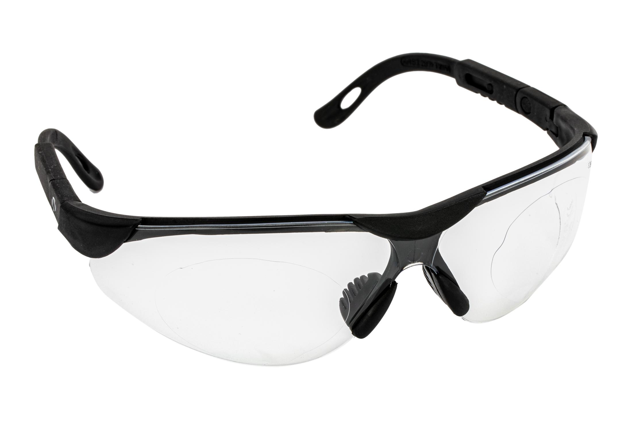 The Walkers elite sport safety glasses with clear lens features a black polymer frame