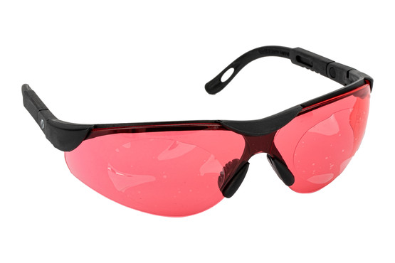 The Walkers elite sport shooting glasses feature a flexible polymer frame and vermilion lenses