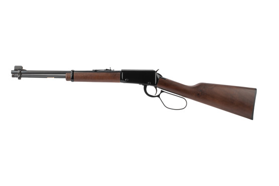 Henry Classic lever action rifle features an American walnut stock