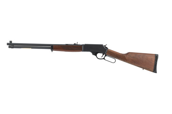 Henry lever action rifle 30-30 features buckhorn sights