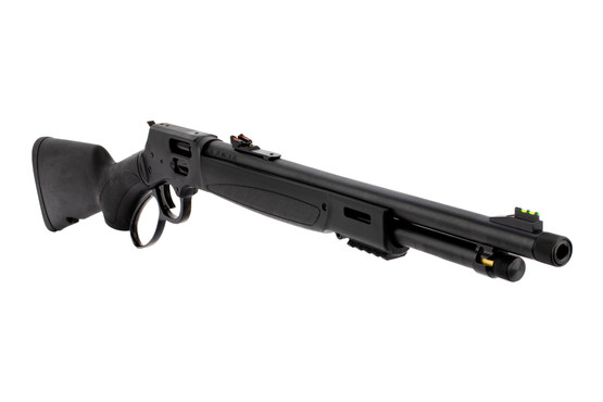 Henry Big Boy Steel X 357 mag lever action rifle features a side loading gate