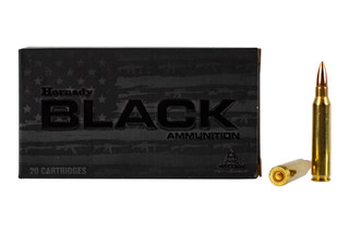 Hornady Black 5.56 ammo features a 62 grain full metal jacket bullet