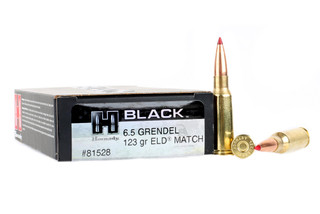 The Hornady Black 6.5 Grendel with 123gr ELD Match bullet comes in a box of 20