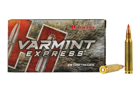 Hornady Varmint Express 223 hunting ammo features the 40 grain V-Max bullet