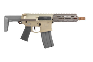 Q Honey Badger 300 Blackout SBR with Telescoping Stock features a 7075-T6 aluminum receiver