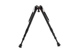 The smooth legs of the Harris Bipod HB25C allow height adjustments from 13.5 to 27 inches