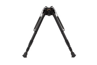 The smooth legs of the Harris Bipod HB25S allow height adjustments from 12 to 25 inches