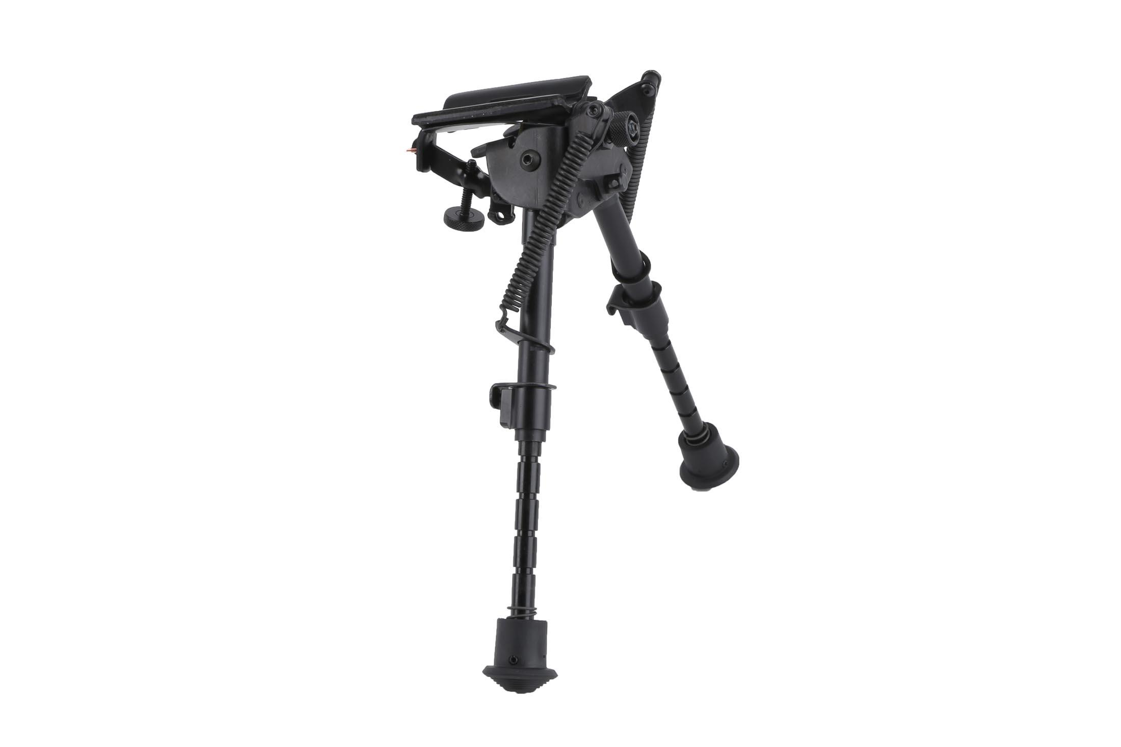 Harris Bipods have notched legs that can extend from 6 to 9 inches