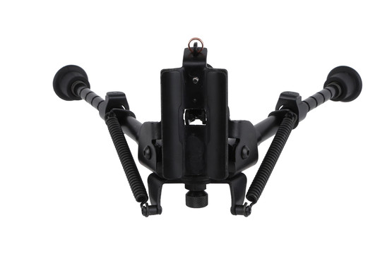 This Harris Bipod can be quickly deployed and features a swivel base