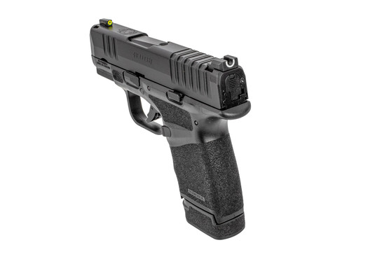 Hellcat pistol 9mm features tritium night sights with a u-notch design