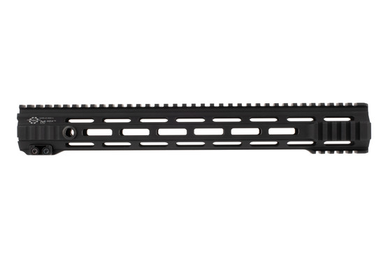 The Cross Machine Tool HDX Mod 4 UHPR handguard features M-LOK slots along the entire length