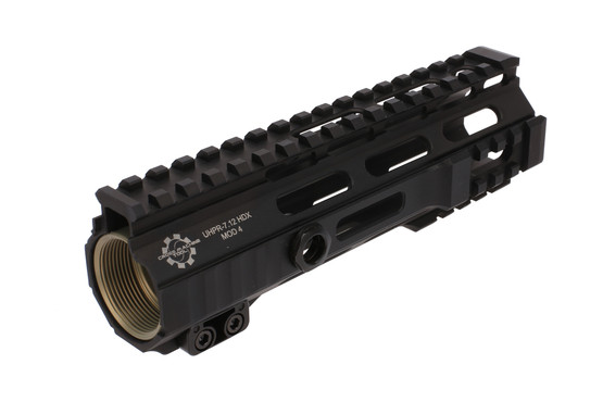 The Cross Machine Tool Mod 4 UHPR HDX M-LOK handguard comes with a steel barrel nut for installation