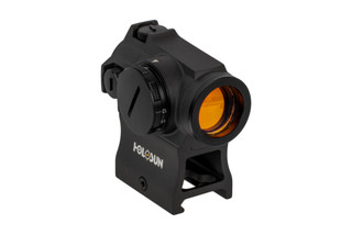 The Holosun HE403R-GD micro red dot sight features a 2 MOA gold reticle