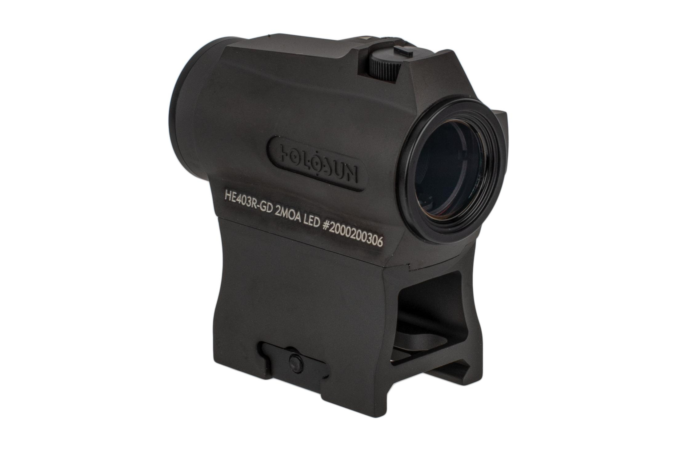 The Holosun micro gold dot optic comes with a picatinny mount