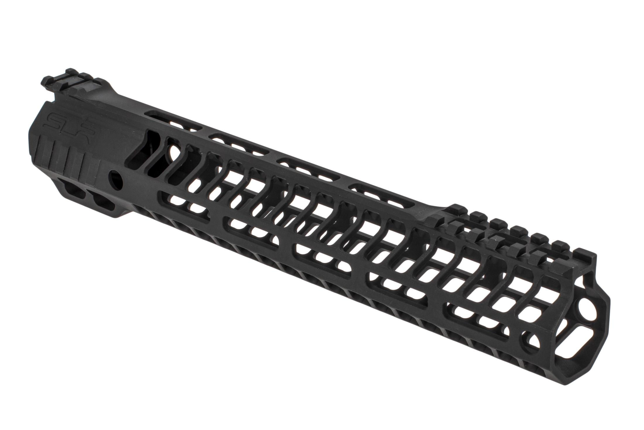 SLR Rifleworks HELIX series 11.7 M-LOK rail for the AR-15 with interrupted top rail with black anodized finish.