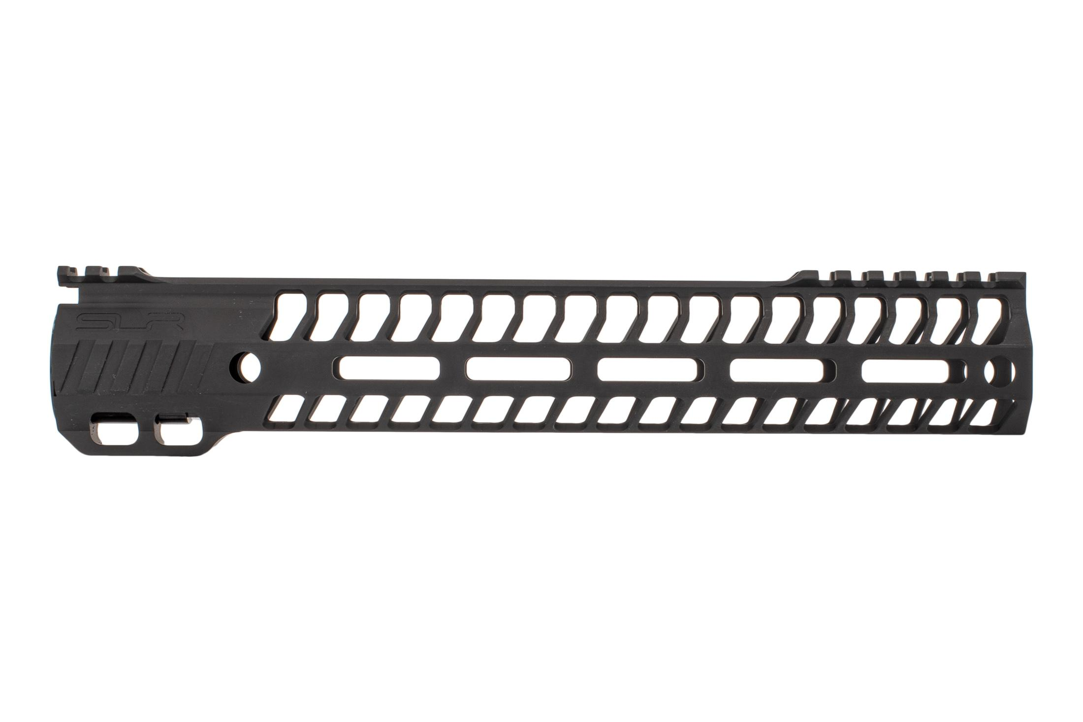 SLR Rifleworks 11.7 HELIX AR-15 handguard with interrupted top rail features M-LOK on four sides and a black finish