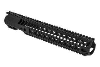 "SLR Rifleworks HELIX series 13.7"" Quad rail for the AR-15 with full length top rail with black anodized finish."