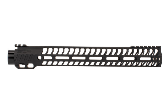 "SLR Rifleworks 13.7"" HELIX AR-15 handguard with interrupted top rail features M-LOK on four sides and a black finish"
