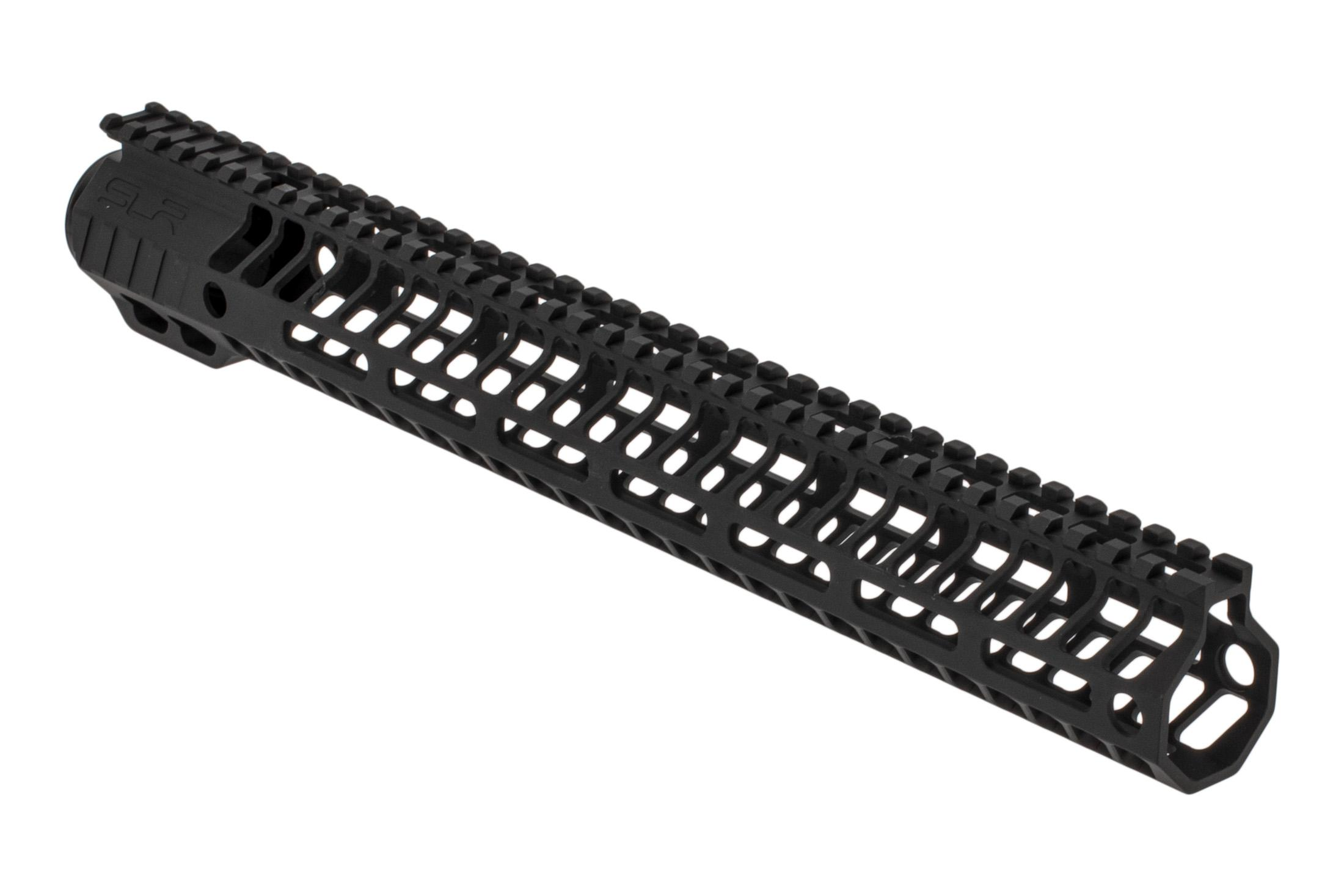 SLR Rifleworks HELIX series 14.87 M-LOK rail for the AR-15 with full length top rail with black anodized finish.