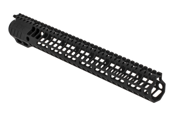 "SLR Rifleworks HELIX series 14.87"" M-LOK rail for the AR-15 with full length top rail with black anodized finish."