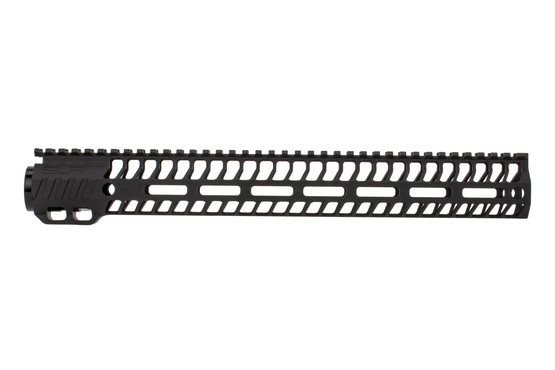 "SLR Rifleworks 14.87"" HELIX AR-15 handguard with full length top rail features M-LOK on four sides and a black finish"