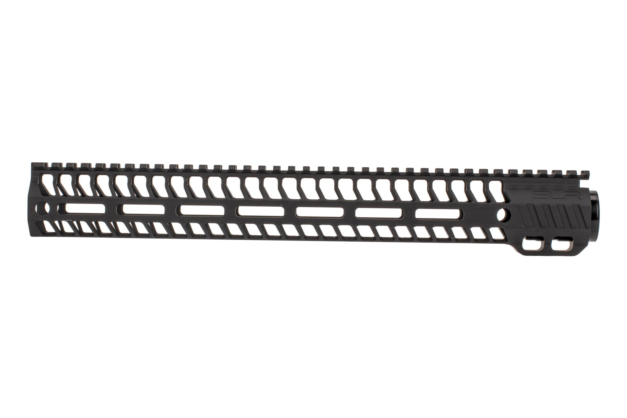 SLR Rifleworks M-LOK HELIX rail is 14.87 for AR15 with black anodized finish and full length top rail
