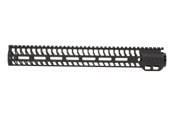 "SLR Rifleworks M-LOK HELIX rail is 14.87"" for AR15 with black anodized finish and full length top rail"