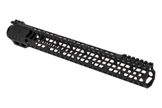 "SLR Rifleworks HELIX series 14.87"" M-LOK rail for the AR-15 with interrupted top rail with black anodized finish."