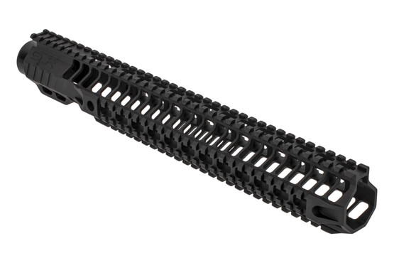 "SLR Rifleworks HELIX series 14.87"" Quad rail for the AR-15 with full length top rail with black anodized finish."