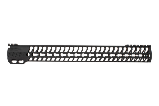 "SLR Rifleworks 16.0"" HELIX AR-15 handguard with interrupted top rail features M-LOK on four sides and a black finish"