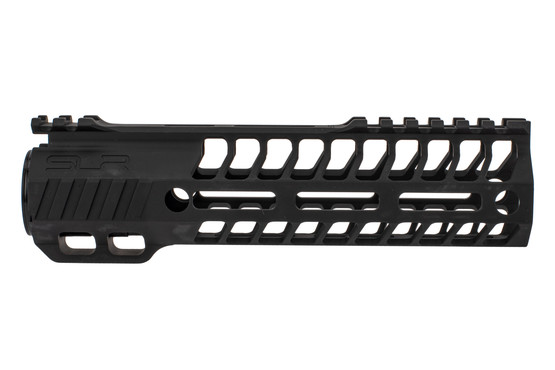 "SLR Rifleworks 7.75"" HELIX AR-15 handguard with interrupted top rail features M-LOK on four sides and a black finish"