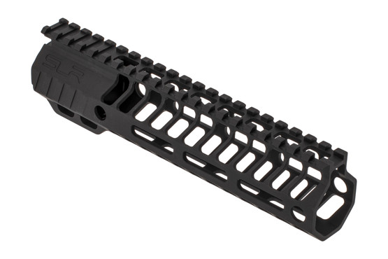 "SLR Rifleworks 8.5"" HELIX AR-15 handguard with full length top rail features M-LOK on four sides and a black finish"