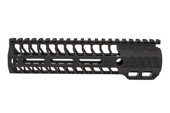 "SLR Rifleworks M-LOK HELIX rail is 8.5"" for AR15 with black anodized finish and full length top rail"
