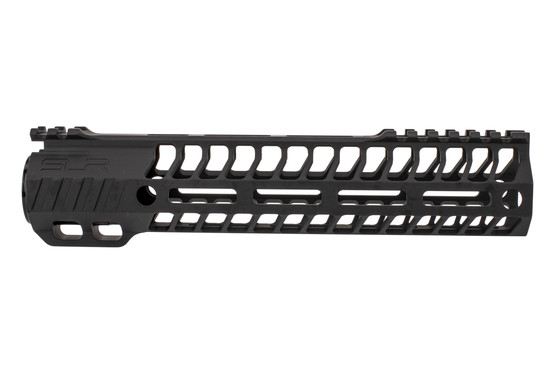 "SLR Rifleworks 9.5"" HELIX AR-15 handguard with interrupted top rail features M-LOK on four sides and a black finish"
