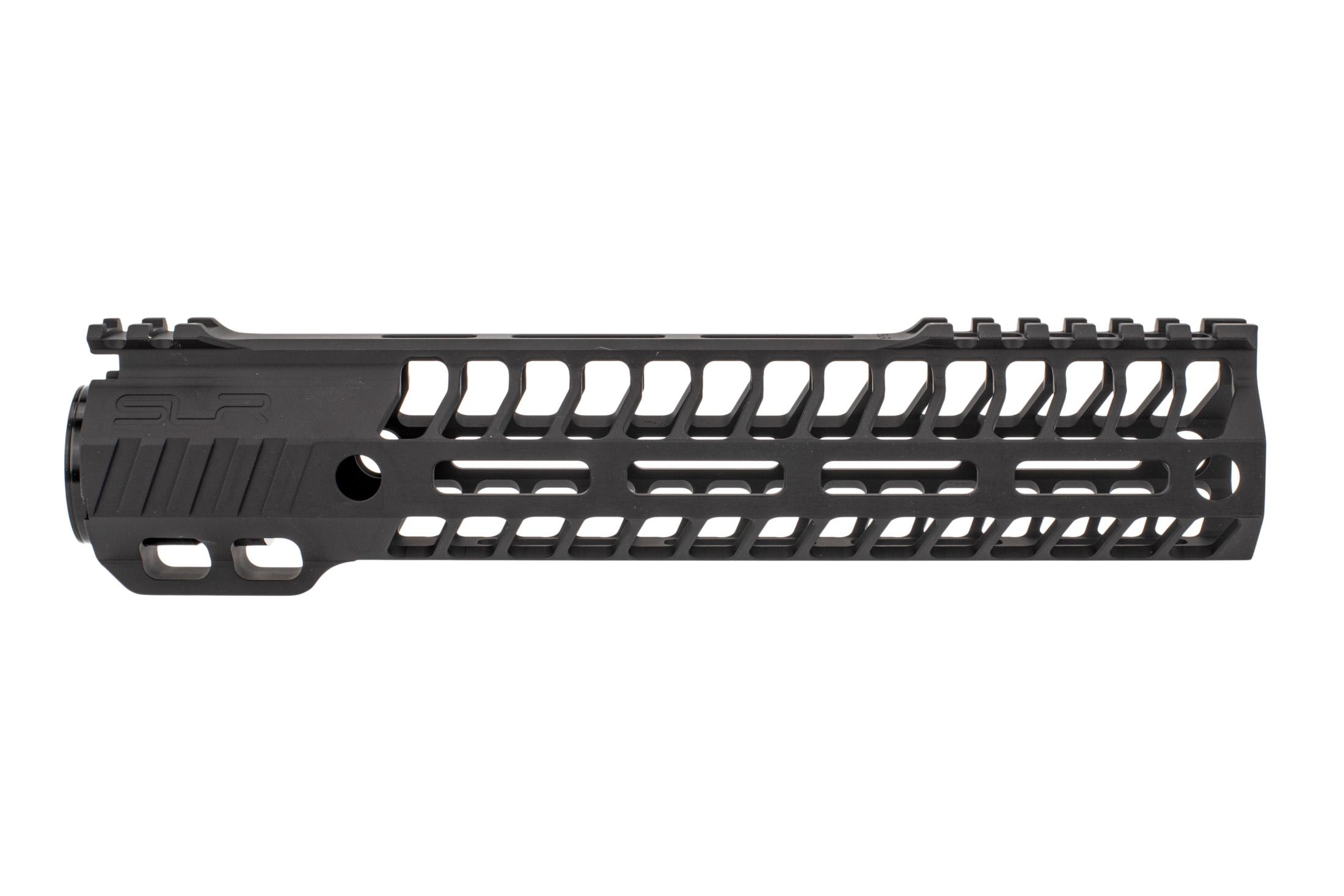 SLR Rifleworks 9.7 HELIX AR-15 handguard with full length top rail features M-LOK on four sides and a black finish